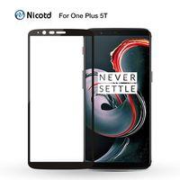 Protector de pantalla de cristal templado para móvil, cubierta completa 2.5D para OnePLus 3, 3T, OnePlus 5, 8T, Nord N100 1 + N10 5G
