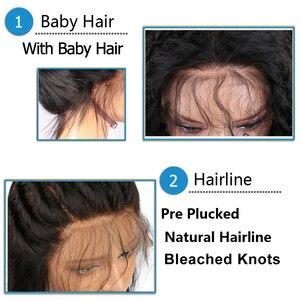Image 5 - SHD Ombre Farbe Spitze Vorne Perücke mit Baby Haar Brasilianische Verworrene Lockige Menschenhaar Perücken für Frauen Remy Haar Glueless spitze Perücken