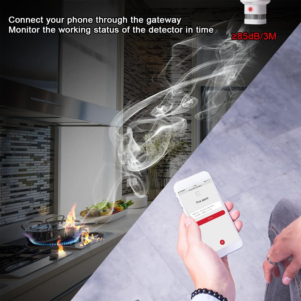 HEIMAN Free Shipping Zwave Fire protection alarm Smart Z wave Smoke detector 868MHz 3pcs High sensitivity Z wave Safety Sensor - 4