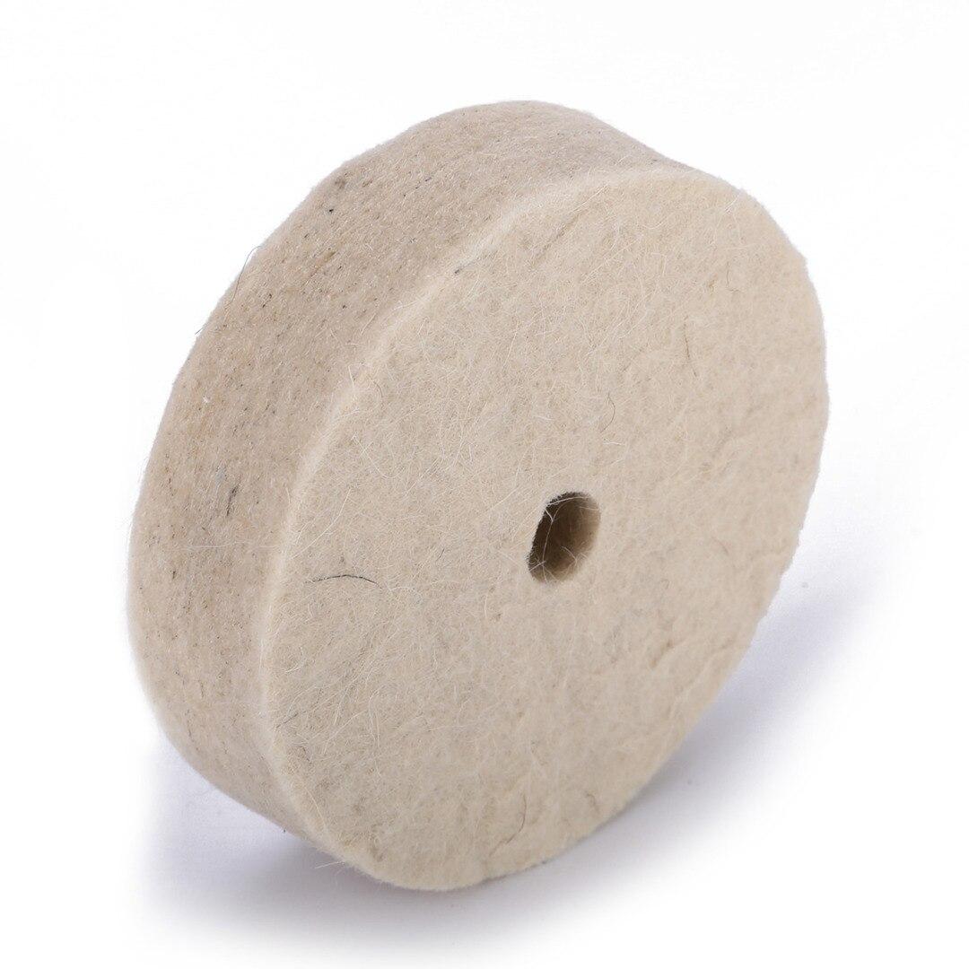 Mayitr 3 Inch 80mm Drill Grinding Wheel Buffing Wheel Felt Wool Polishing Pad Abrasive Disc For Bench Grinder Rotary Tool