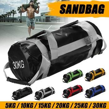 5-30KG waga torba z piaskiem moc torba Heavy Duty Crossfits Fitness podnoszenie ciężarów worek z piaskiem MMA boks PU tanie i dobre opinie CN (pochodzenie) Kategoria worka z piaskiem Other