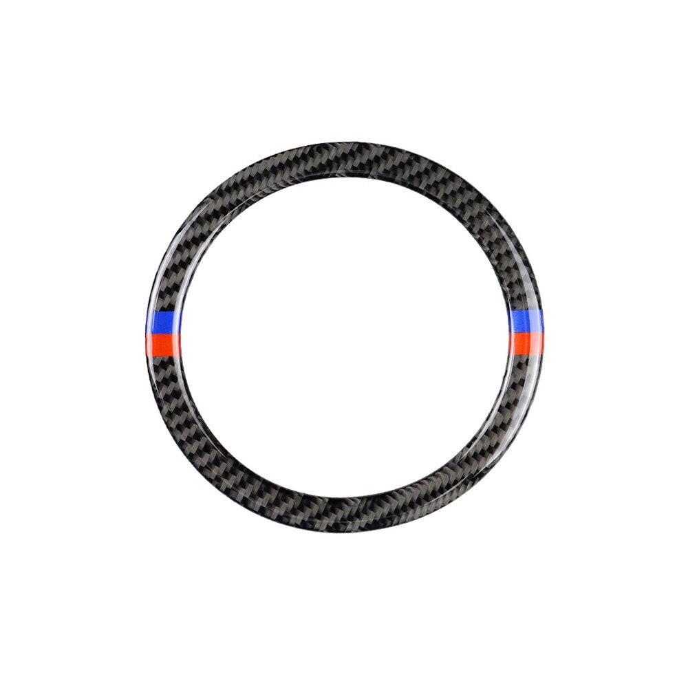 Car Interior Auto Steering Wheel Center Carbon Fiber Sticker Decoration Cover Ring For Mini Cooper R55 R56 R60 R61Car Styling