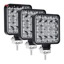 Mini led trabalho luzes led barra de luz 9v 36v 48w para fora da estrada suv universal automóvel & motocicleta conjunto luz acessórios