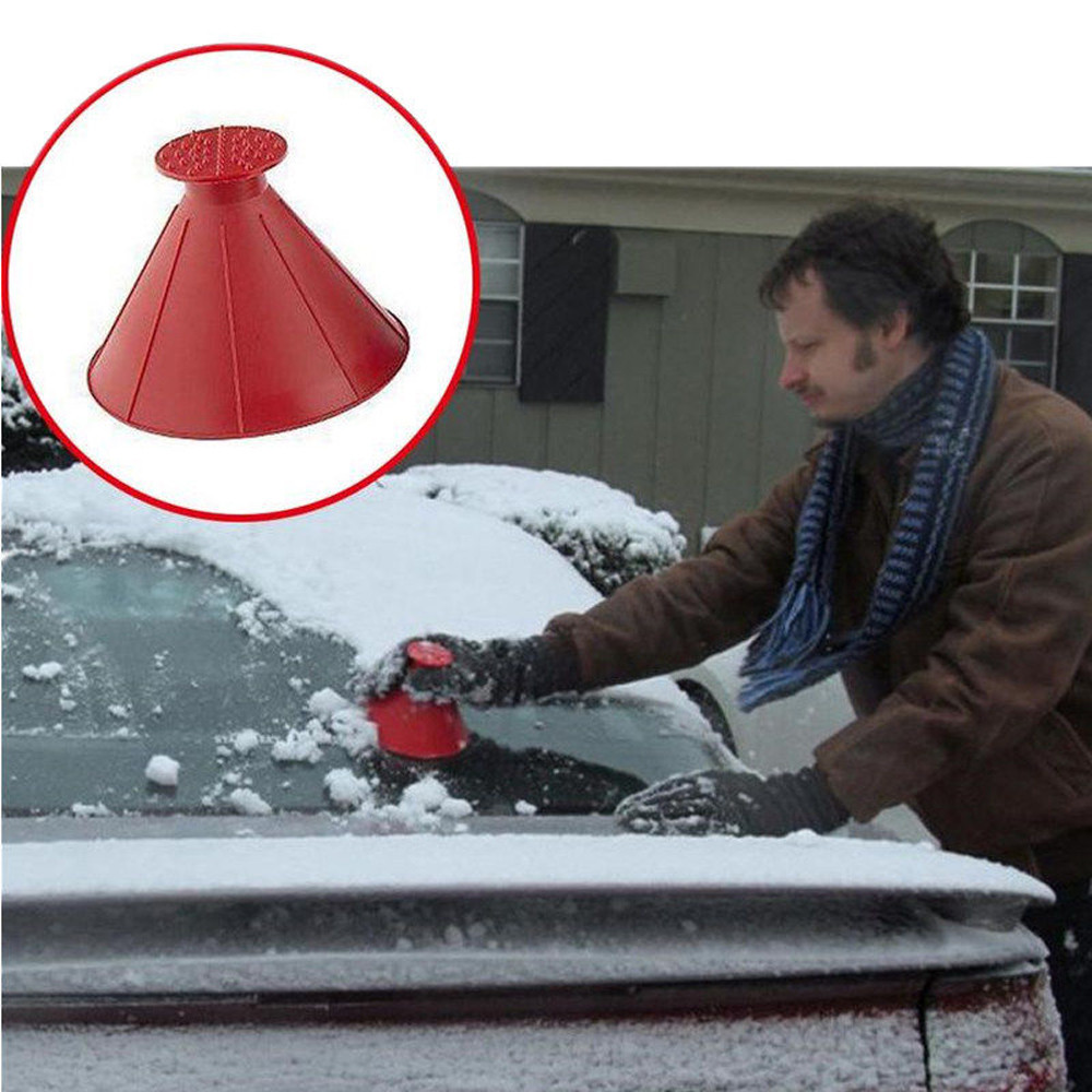Авто волшебное окно лобовое стекло автомобиля скребок для льда в форме воронки для удаления снега инструмент для удаления конуса