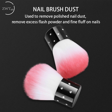ZWTale Soft Nail Art Dust Brush Manicure Tool Beauty Cosmetic dust cleaning brush Random color