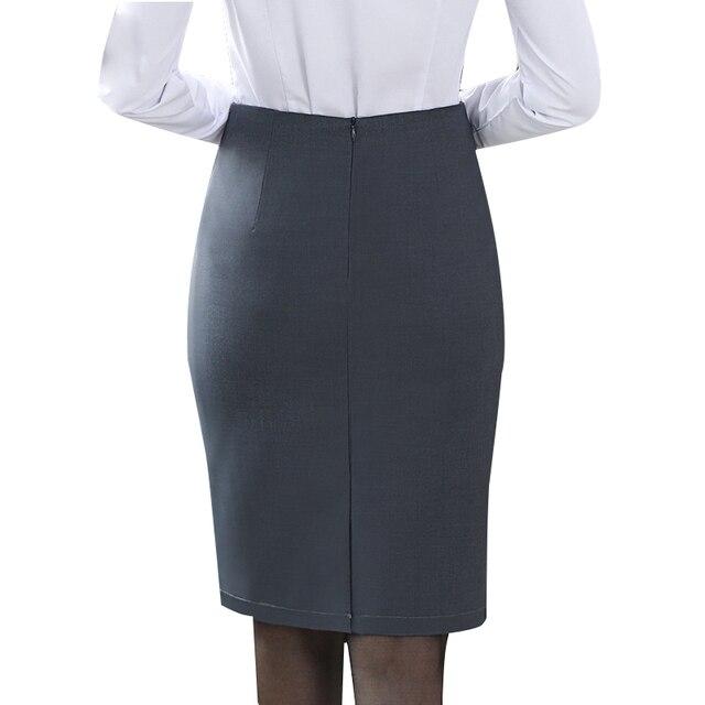Элегантная женская юбка-карандаш с высокой талией 3