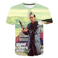 Boys T-shirts Girls Grand Theft Auto tops Childrens short-sleeved cartoon T-shirt team clothing Tee baby clothes 2020 New