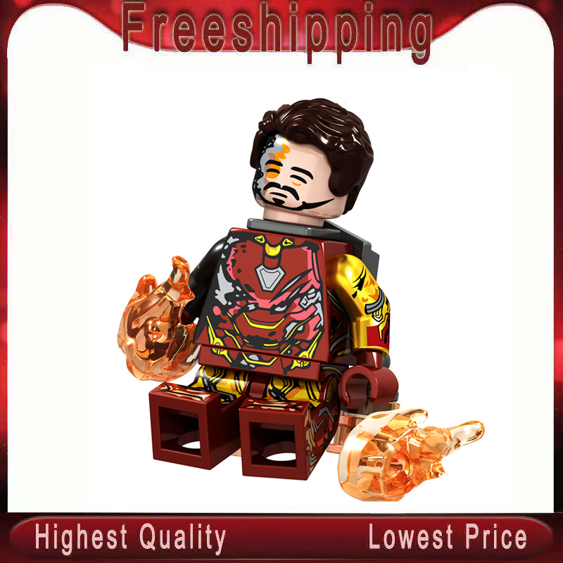 Single Sale LegoINGlys Super Heroes Avengers MiniFigured Iron Man Mk22 Mk50 Mk85 Mk5 Mk50 Building Blocks Bricks Toys Gift GD232