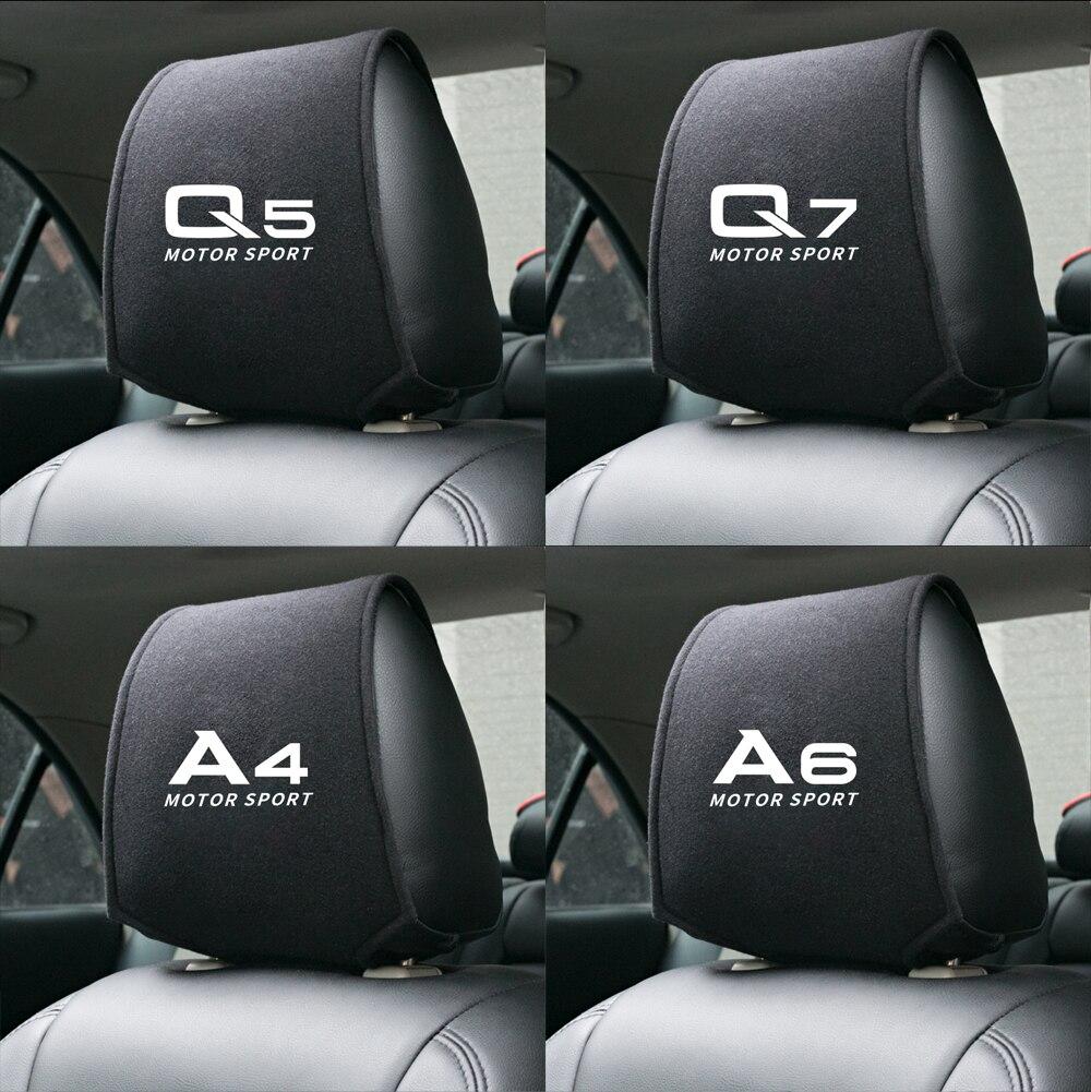 1 шт., чехол для автомобильного подголовника, предназначенный для A1 A3 A4 A5 A6 A7 A8 audi Q2 Q3 Q5 Q7 TT, автомобильные аксессуары, чехол для сиденья, автомо...