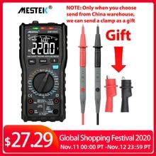 Mestek dm100c true rms multímetro digital botão 10000 contagem com gráfico de barras analógico ac/dc tensão amperímetro corrente ohm manual/automóvel