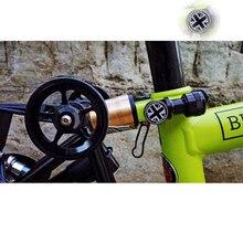 2-х цветный Складное Сиденье трубки Зажимная гайка с орнаментом в виде флага для brompton зажим стойки сиденья велосипеда гайка черный, серебристый цвет