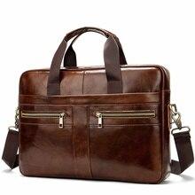 Деловой мужской портфель s Мужская сумка сумки-почтальонки из натуральной кожи сумка для ноутбука кожаный портфель Офисные Сумки для мужчин
