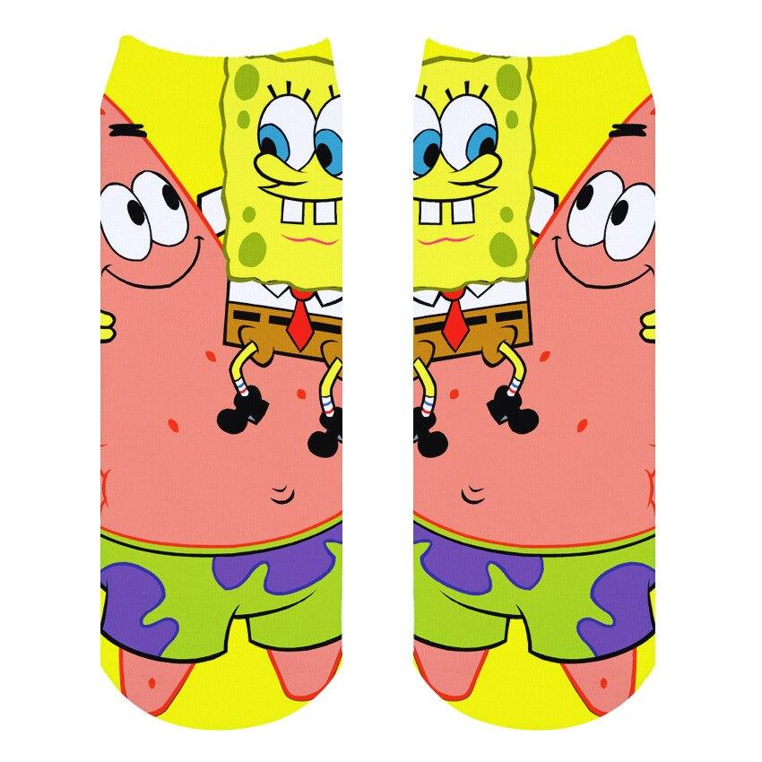 Bob Esponja 3D Printed Socks Men Squidward Tentacles Patrick Star Joker Novelty Funny Socks Spring Summer Cotton Sock