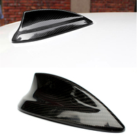 1 Pc for B M W 3 series F30 F35 real carbon fiber material car roof shark fin antenna radio signal car stickers