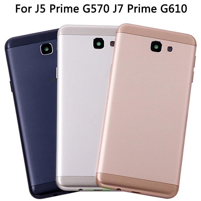 New J7 Prime G610F G610 On7 2016 Metal Back Housing For Samsung Galaxy J5 Prime G570F G570 On5 2016 Back Battery Cover Housing
