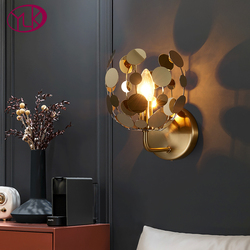 New modern led wall sconce light gold bedroom living room stainless steel wall lamps luxury home decor bedroom light fixtures