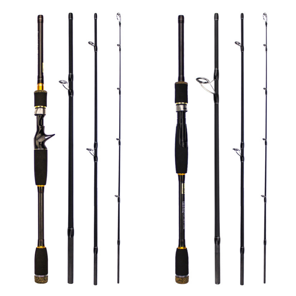 Medium Power Ultralight Fishing Rod 4 Section Carbon Fiber Lure Pole EVA Handle Bass Trout Fresh Water Fishing Tackles Pesca