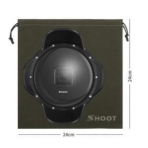 Image 4 - SHOOT funda impermeable para GoPro Hero 7 6 5, bandeja estabilizadora, funda de cúpula de buceo negra, accesorios para GoPro 7 6