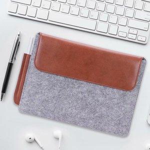 """Image 2 - Tablet kol çantası kılıf kılıfı için olağanüstü 10.3 e okuyucu moda çanta yün keçe kol çantası dikkat çekici 10.3 """"Funda + kalem"""