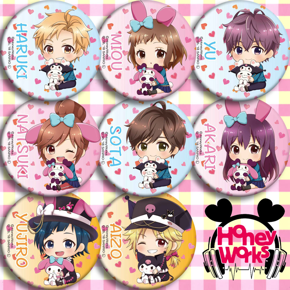 Japan Anime HoneyWorks My Melody Cosplay Badge Cartoon Collection Backpacks Badges Bags Button Brooch Pins Gift