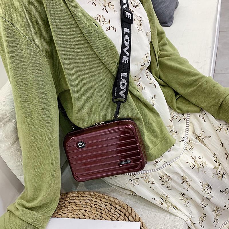 Luxury Shoulder Bags For Women Fashion Small Luggage Bag 2020 New Suitcase Shape Mini Bag Women Famous Brand Clutch Bag Purses