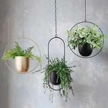 Metal pendurado pote planta gancho corrente pendurado flor pote plantador cesta planta cabide casa jardim varanda decoração countyard