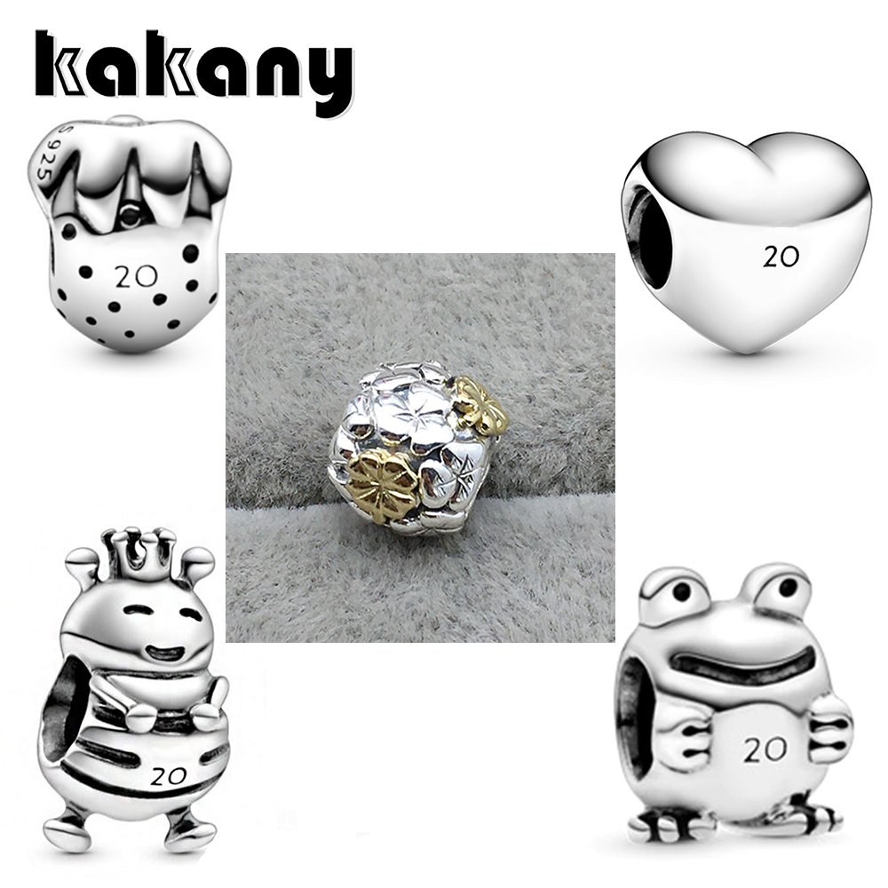Kakany 2020 New Limited Edition 20th Anni Versary Frog Strawberry Bee Love Commemorative Charm Suitable For Bracelet Diy Jewelry