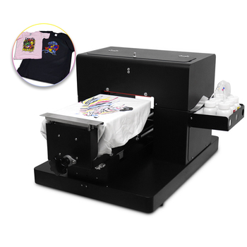 DTG Printer A4 Size 6 colors Direct to Garment T-shirt Flatbed Printing Machine for Dark and Light Clothes High Quality a4 size digital flatbed uv printer phone case printing machine price