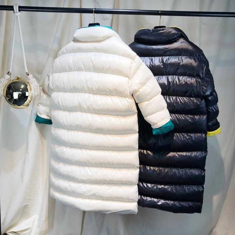 Fitaylor Wanita Musim Dingin Panjang Ultra Ringan Baru Putih Bebek Jaket Wanita Slim Puffer Jaket Tahan Angin Down Mantel