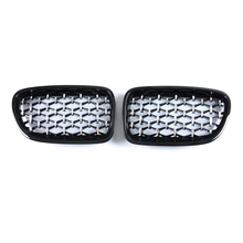 1 Pair Car Front Bumper Kidney Grilles Diamond Grill For BMW 5 Series GT F07 Gran Turismo 535i 550i 2009 2017 Racing Grille