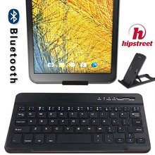 Ultra Slim Wireless Bluetooth Keyboard for HipStreet Titan 4 7 Inch Compatible for IOS Android Tablets Windows + Bracket