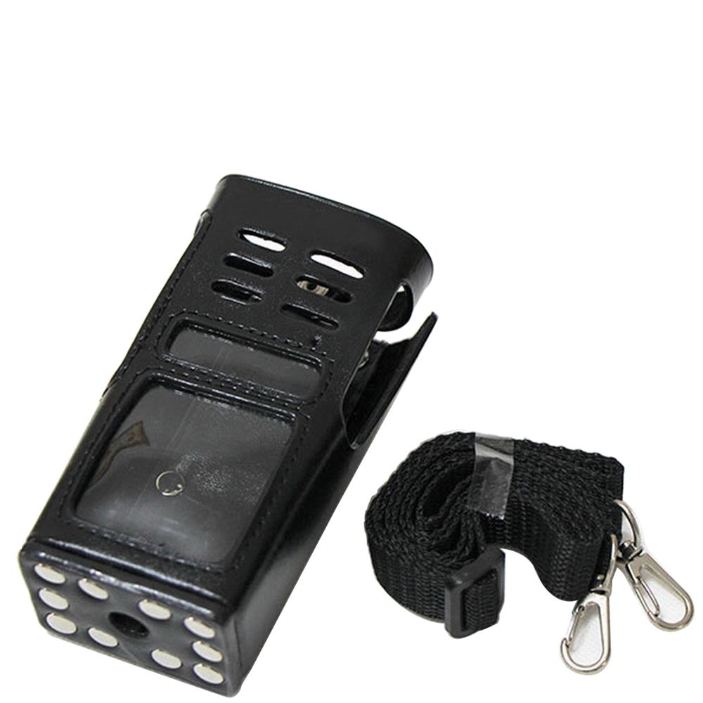 Universal Intercom Hard Leather Carrying Radio Case Holder Adjustable For GP338 GP339 GP680 GP360 GP380 Walkie Talkie Radio
