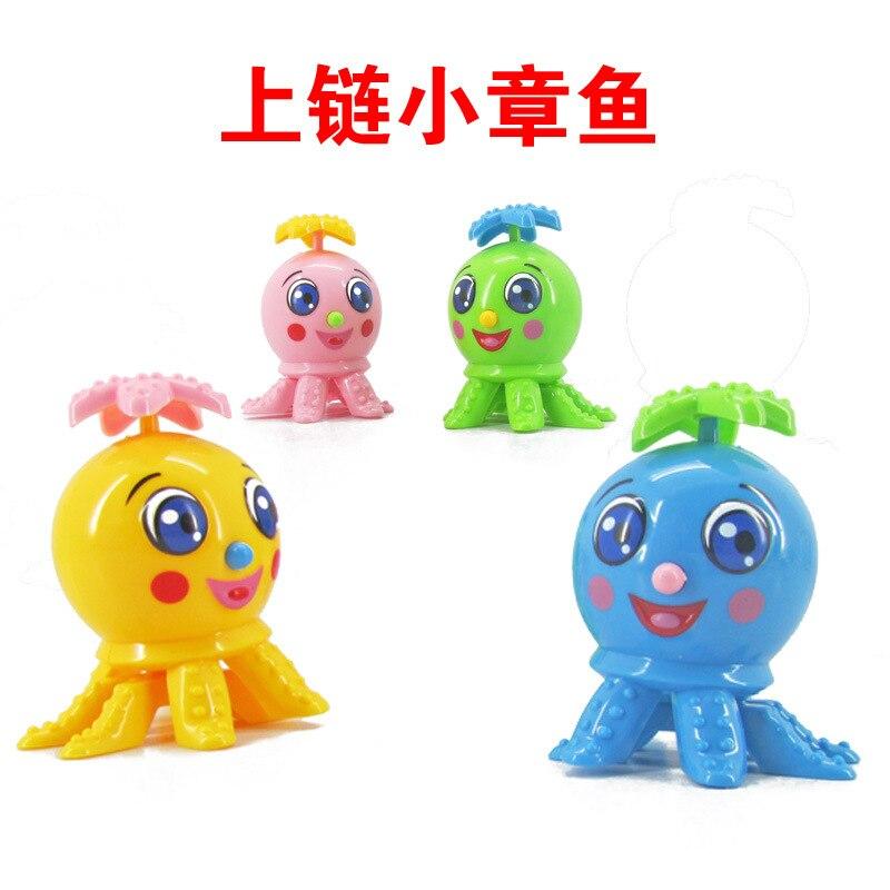 Spring Cute Cartoon Octopus Small Octopus Will Go Sideways Oh Children Winding Toy