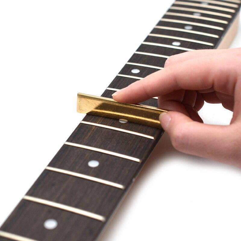 Festnight 9Pcs Guitar Fret Press Caul Inserts Golden Brass 7.25 ...
