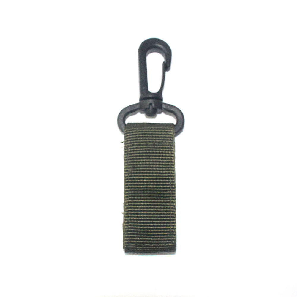 Outdoor Survival Belt Portable Hook Nylon Webbing Velcro Backpack Hanging Buckle