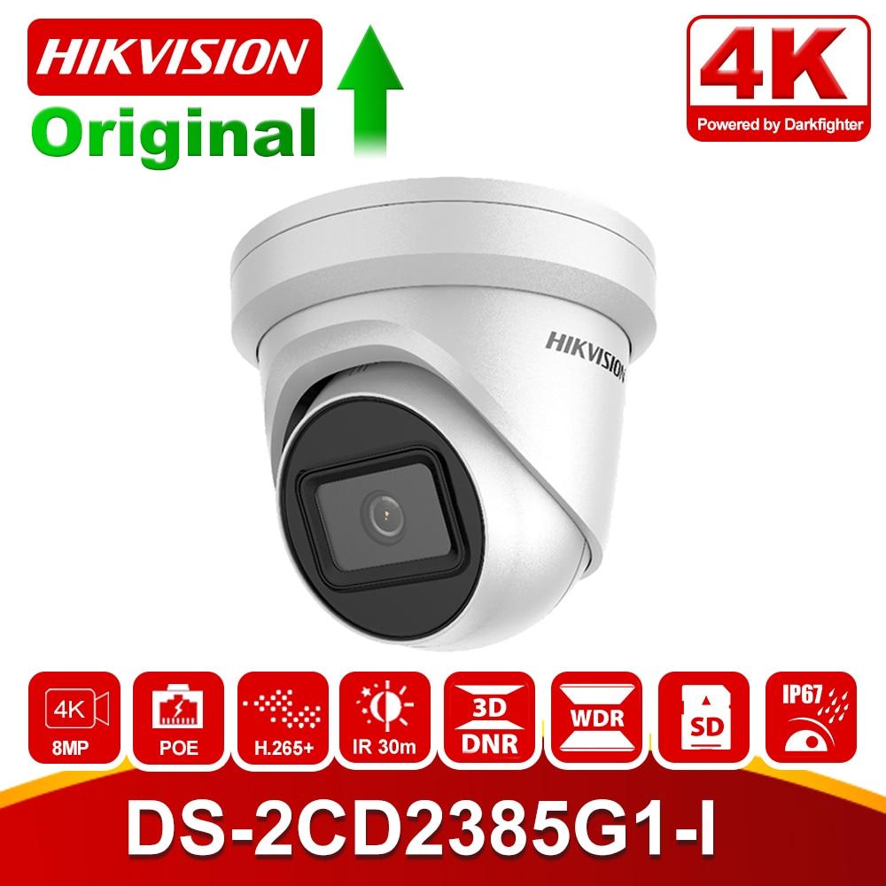 Hikvision 8MP POE IP Camera Outdoor DS-2CD2385G1-I 4K Darkfighter IR Turret CCTV Video Surveillance Camera H.265+ SD Card Slot