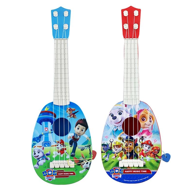 Милая мультяшная фигурка Щенячий патруль, реальная четырехструнная игрушка для игры в укулеле, детские развивающие Игрушки для раннего дет...