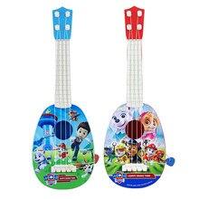 Patrulha pata Do Cão Bonito Dos Desenhos Animados Figura Brinquedos Guitarra Quatro-corda Pode Jogar Ukulele das Crianças Brinquedos Educativos para a Primeira Infância