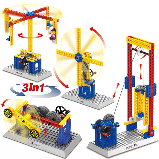 Engineering Gear Science Educational Constructor Blocks Toys Mechanical Gear Technic Building Blocks Children s Science Toy