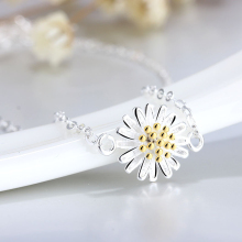 019 New Sexy Small Elegant Silver Plated Little Daisy Charm Beach Bare Foot Anklet Jewelry
