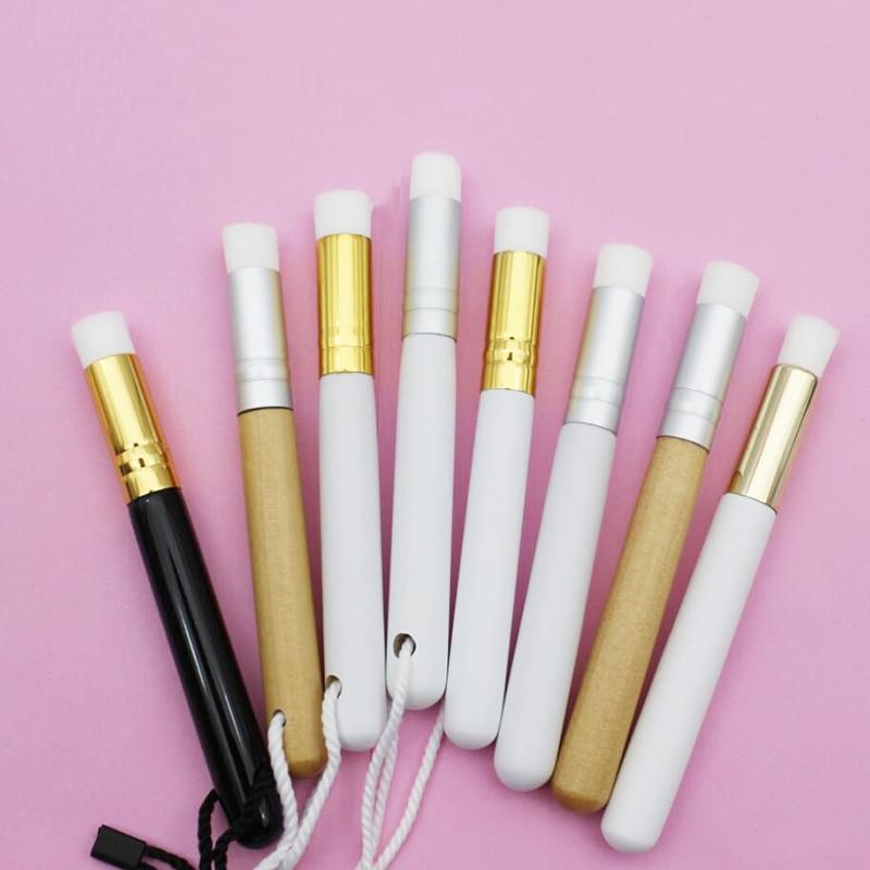 50 pcs beleza cuidados com a pele lavagem rosto cilios escova de limpeza esfoliante nariz limpo