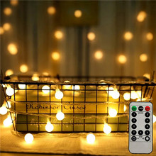 Globe String Lights Battery Operated Ball Lights Decorative Fairy Light for Wedding Home Party Garden Bedroom Outdoor Indoor
