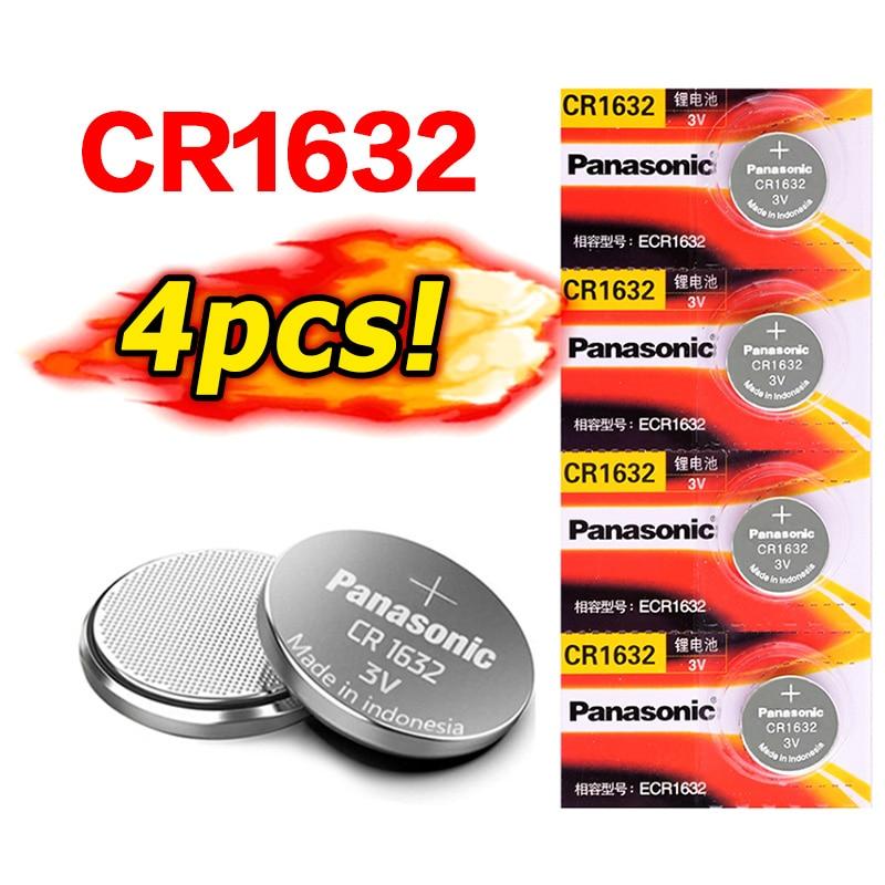 PANASONIC 4 X Оригинальная Совершенно новая батарея для cr1632 3v Кнопочная батарея монетные батареи для часов компьютера cr 1632 для светодиодных фона...