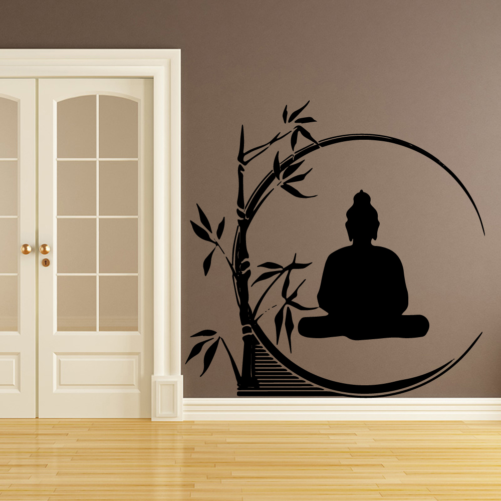 Artistic Buddha Cartoon Wall Sticker Decals Home Decor For Living Room Kids Decoration Murals LW400