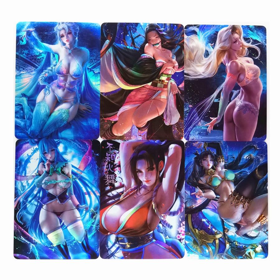 18pcs/set ACG Beauty No.10 Kamado Nezuko Mai Shiranui Sexy Girls Toys Hobbies Hobby Collectibles Game Collection Anime Cards