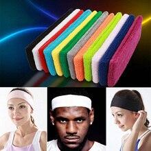 Спортивная повязка на голову для мужчин и женщин для бега йоги пилатеса баскетбола спортзала повязки для волос хлопок пот Эластичный Тюрбан эластичные повязки на голову