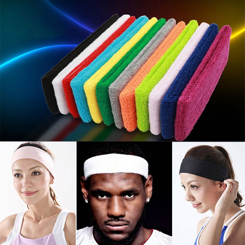 Sports Headband Men Women Running Yoga Pilates Basketball GYM Hair Bands Cotton Sweat Stretch Turban Elasticity Headbands