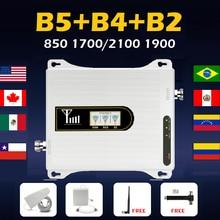 Banda 5 4 2 celular amplificador de sinal móvel impulsionador repetidor gsm 2g 3g 4g venezuela peru digital movilnet movistar claro entel