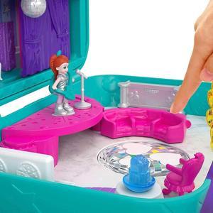 Image 3 - Original Mattel Polly Tasche Mädchen Haus Puppen Große Millionen Welt Schatz Box Luxus Auto Reise Anzug Mädchen Spielzeug Große Tasche welt
