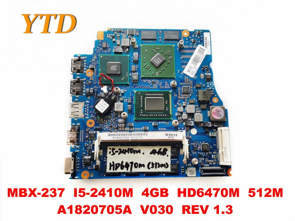 Original for SONY MBX-237 laptop motherboard MBX-237 <font><b>I5</b></font>-<font><b>2410M</b></font> 4GB HD6470M 512M A1820705A V030 REV 1.3 tested good free image